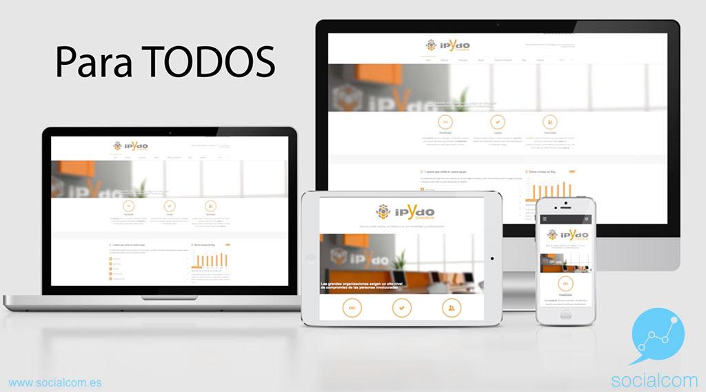 Capturas de Pantalla de Consultoría ipYdo S.L. por Socialcom Estrategia en Redes Sociales y Comunicación S.L.