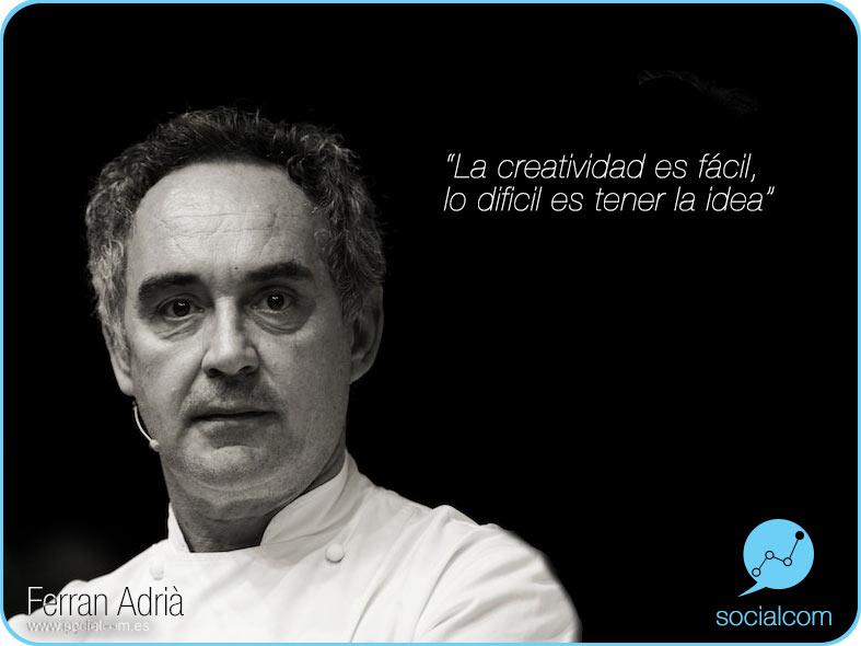 Ferran Adriá por Socialcom Estrategia en Redes Sociales y Comunicación S.L.