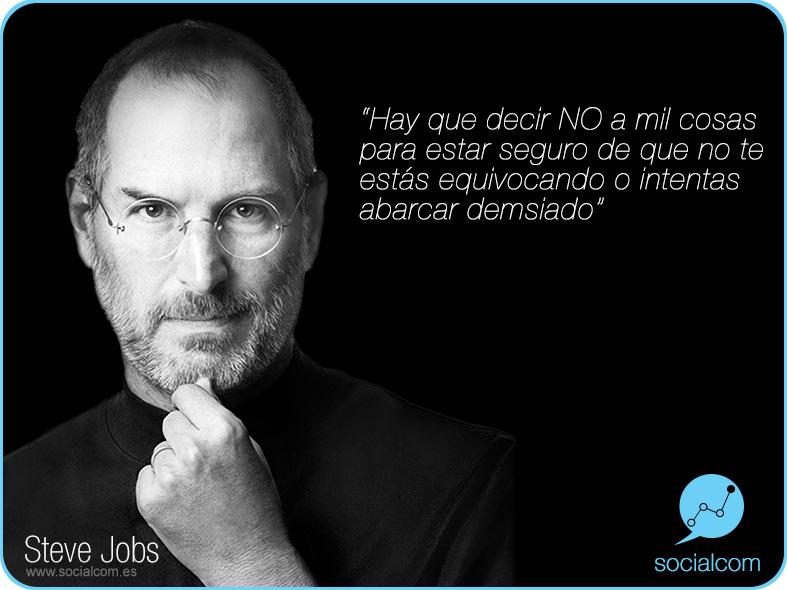 """Steve Jobs """"saber decir no"""" por Socialcom Estrategia en Redes Sociales y Comunicación S.L."""